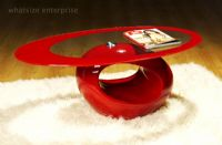Contemporary Retro Designed Oval Coffee Table (Red) | UKCOFFEETABLES.COM